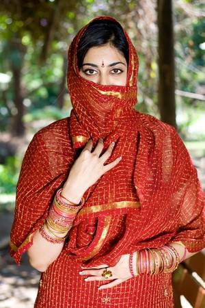 神秘的なインドの女性 写真素材