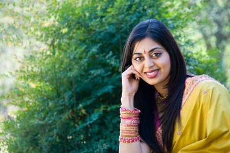 traditional clothes: beautiful indian woman