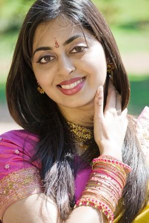 sari: mujer india