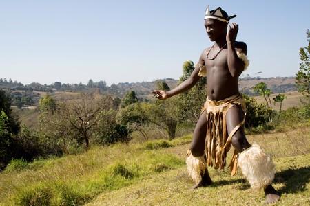 african zulu tribe man photo