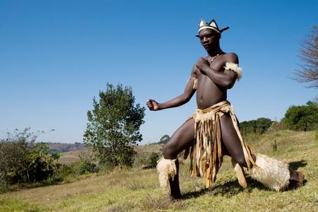 african zulu man photo