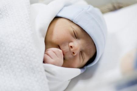 black baby boy: newborn baby boy sleeping