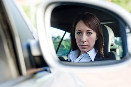 beautiful businesswoman driver photo
