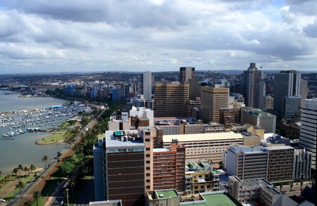 harbor city - Durban, south africa Stock Photo