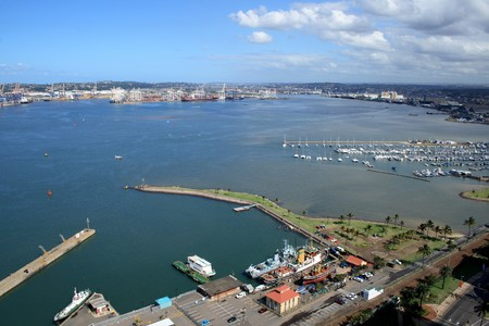 harbor city - Durban, south africa photo