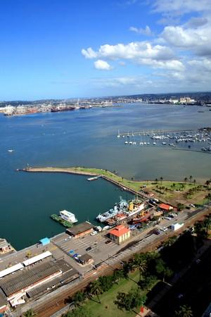 durban harbor and city photo