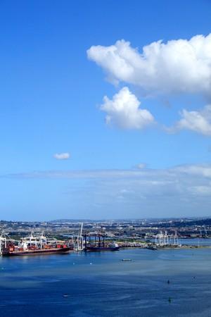 harbor and sky photo