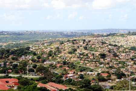 housing lot: poor suburb of south africa