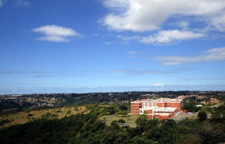 homeownership: View of durban city and coast from a mountain Stock Photo