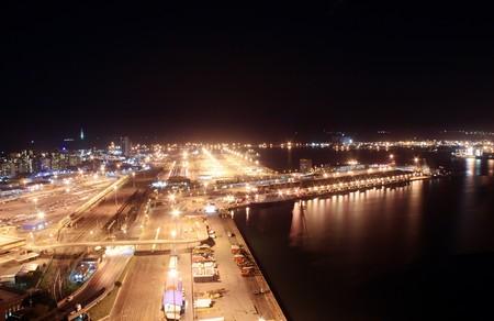 harbor city night photo