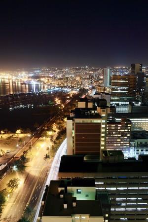 coastal city night photo