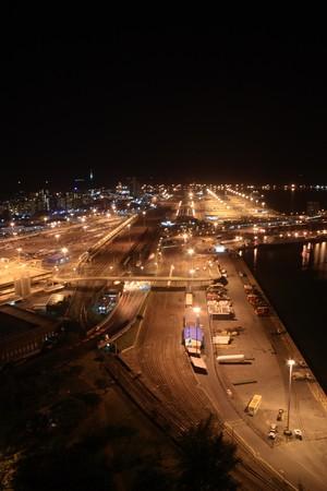 night harbor photo