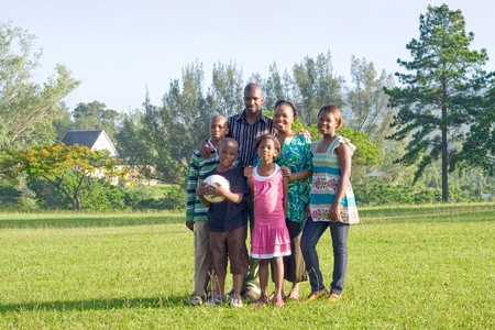 happy african family Stock Photo - 4255813