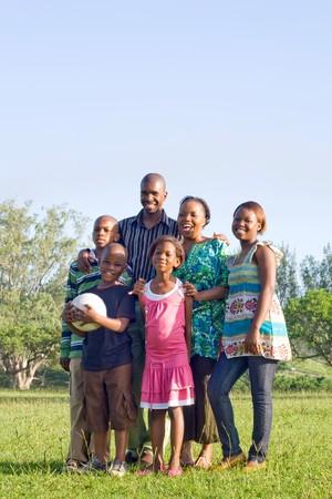 happy african family Stock Photo - 4255812