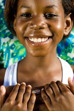 beautiful young african girl Stock Photo - 4249217