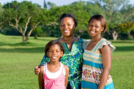 happy african american mother and daughters Stock Photo - 4249210