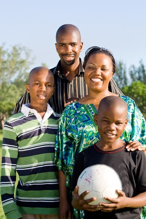 africa people: happy african family Stock Photo