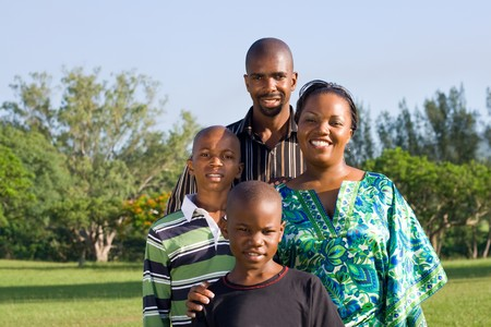 happy african family Stock Photo - 4255783