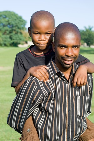 african father and son Stock Photo - 4255790