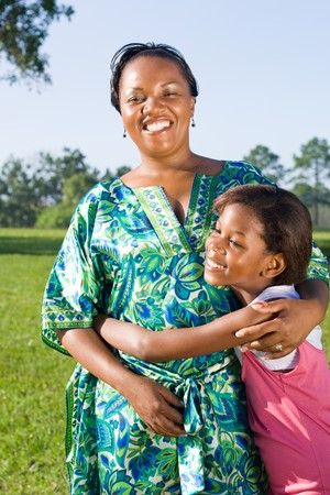 happy african american mother and daughter together Stock Photo - 4255788