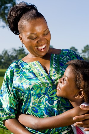 happy african american mother and daughter together Stock Photo - 4255782