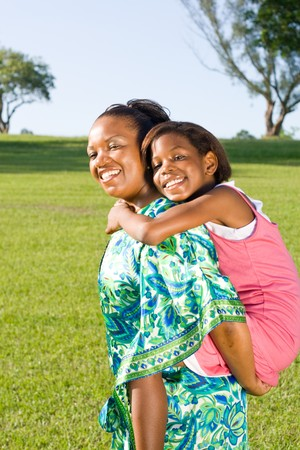 happy african mother and daughter together Stock Photo - 4255762