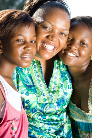 happy african mother and daughters Stock Photo - 4255639