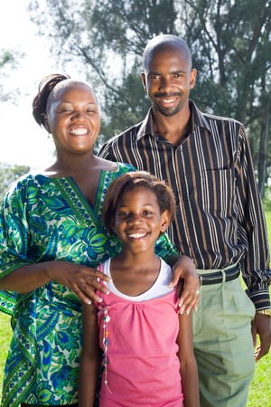 happy african american family Stock Photo - 4255622