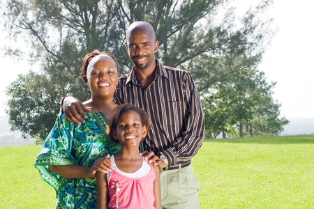 happy african family Stock Photo - 4255629