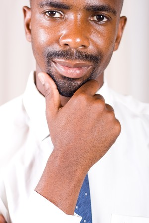 Confident smiling African American businessman Stock Photo - 4243236