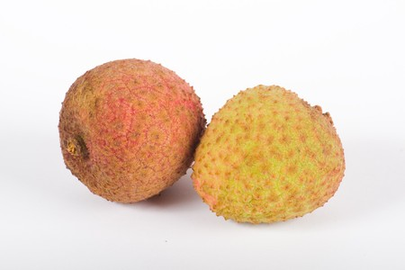 litchi: Litchi isolated on white background