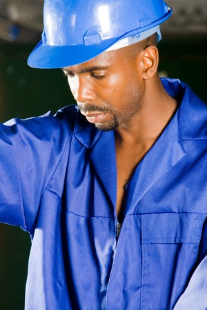 african american worker photo