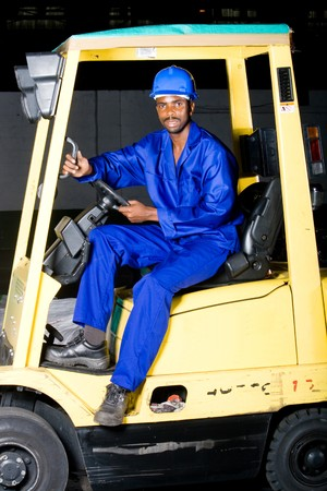 african male forklift driver Stock Photo - 4255849