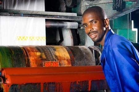 paper screens: plastic bag printing press operator and machine