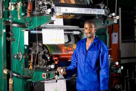 plastic bag printing press operator and machine