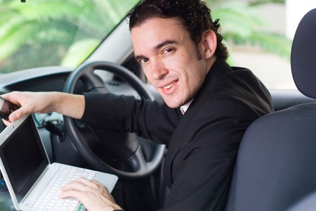 businessman on move photo