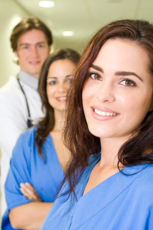 nurses and doctors in hospital photo