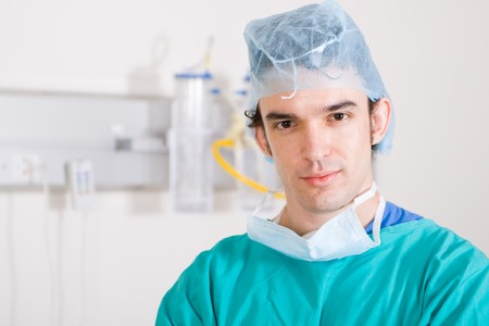 male surgeon in theater coat Stock Photo - 4411238