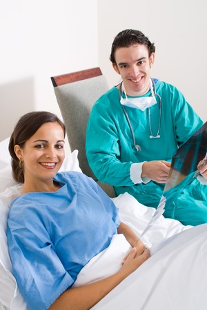 female young patient and her doctor photo