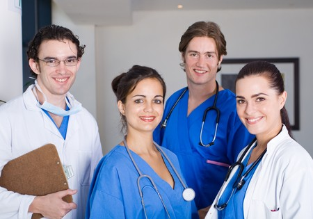 medical doctors and nurses Stock Photo