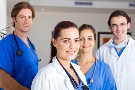 grupo de doctores: m�dicos pasantes Foto de archivo