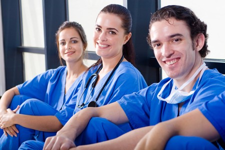 group of young doctors and nurses relaxing Stock Photo - 4411637