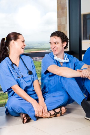 group of young doctors and nurses relaxing Stock Photo - 4411636