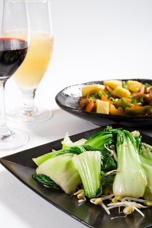 chinese food and drinks photo