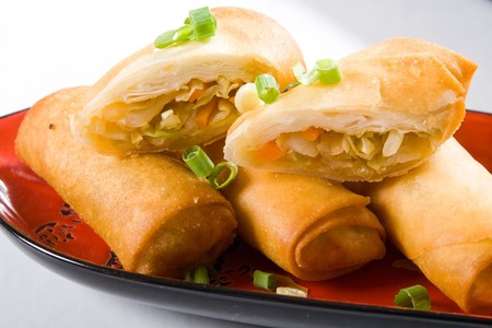 chinese spring roll photo