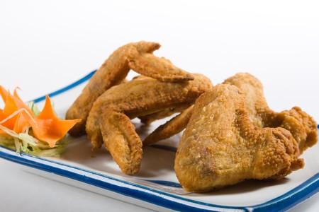 carne de pollo: Chino estilo alas de pollo fritos Foto de archivo