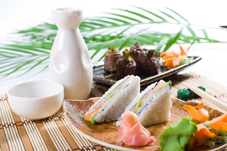 japanese sushi sandwich Stock Photo - 4591675