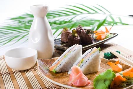 japanese sushi sandwich Stock Photo - 4591675