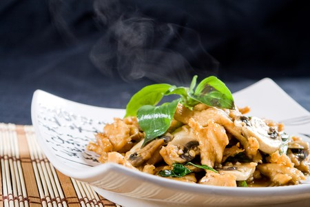 entrees: chinese chicken dish Stock Photo