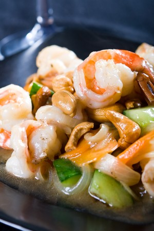 prawn and cashew nuts stir fry Stock Photo - 4591820